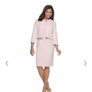Le Suit Open Jacket Crepe tutu  pink dress suit
